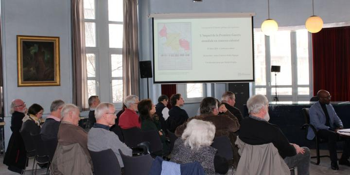 The impact of the first World War in a colonial context. Public History Encounter of the CegeSoma (2019 - 2).