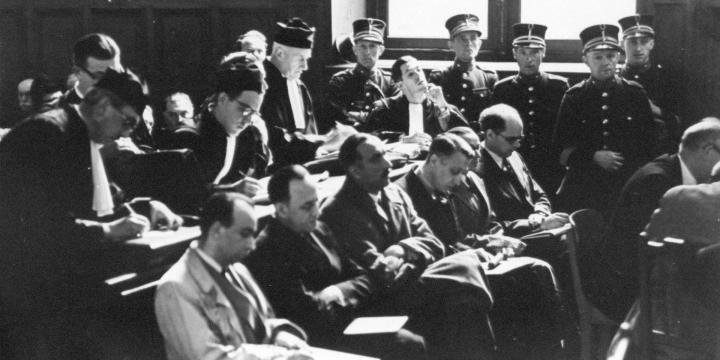 Procès des collaborateurs, 1945-1949, (Don RTBF), copyrights CegeSoma/Archives de l'Etat.