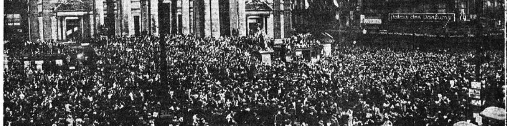 Brussels, 8.5.1945 (La Nation belge, 10.5.1945 - Belgicapress - copyrights KBR)